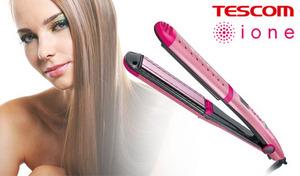 【52%OFF】ツバキオイルとマイナスイオンで美しい髪に。180℃の高温プレートでストレートヘアをしっかりキープ《マイナスイオンストレートアイロン ITH1500-P》