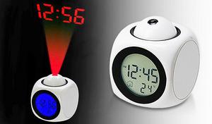音声アナウンス・プロジェクター・液晶ディスプレーの3wayで時刻をお知らせするマルチ置時計《音声読み上げ・プロジェクター表示 マルチクロック》