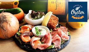 【120分飲み放題/お1人様歓迎/牡蠣プレート】さわやかな地中海の雰囲気を演出してくれる豊富なドリンクとプリプリの食感とクリーミーで濃厚なカキを味わう《牡蠣プレート+120分飲み放題付き》