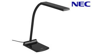 3段階の明るさ調節(調光)機能搭載。デスクの上を明るく照らす《LEDスタンド(A形相当)ブラック HSD16012K-D12》