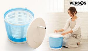 省エネの手動洗濯&脱水機。水と洗濯物を入れて回すだけ。電気不要のポータブルだから場所を選ばず洗濯が可能《極洗エコスピンウォッシャー VS-H015》