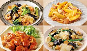 【送料込み/1品あたり約2~3人前用】忙しい日も手軽においしい主菜が完成。下ごしらえ済みの食材と合わせ調味料をセットし、加熱するだけの簡単クッキング《楽ちん おかず4点セット》