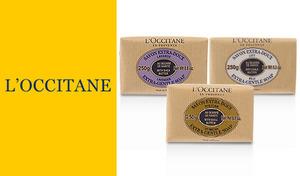 【選べる3種】《ロクシタン シアソープ 250g》シアバター20%配合で保湿力抜群。リッチな泡で肌のうるおいを残しながらさっぱりと洗い上げます。優しい香りに包まれて心も体もリラックス
