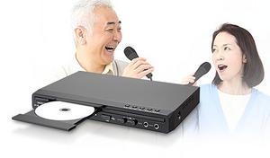 【63%OFF】テレビへ接続するだけで、自宅で気軽にカラオケ。エコーやキー設定、採点機能搭載で、より本格的な歌唱を堪能《カラオケ採点機能付きDVD/CDプレーヤー DK-238》