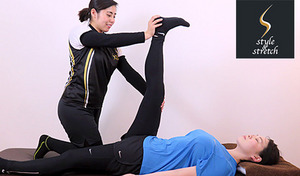 【冬期限定ホットパック】冷え、体のコリ、美姿勢に、手足を温めながらほぐしてリフレッシュ。パーソナルストレッチで1人では届きにくい深層部の筋肉にアプローチ《ストレッチ90分ホットパックセットコース》