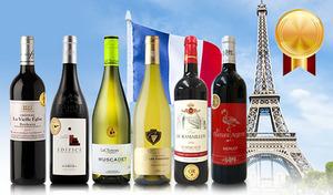 【50%OFF/送料込み】個性豊かな味わいの赤ワインと白ワインを飲み比べ。すべてが金賞を受賞した実力派ワインが勢ぞろい《金賞受賞 フランス4大産地巡り 赤白6本セット》