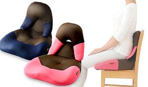 【2色展開】立体ホールド座面が、椅子と体のすき間を埋めて正しい姿勢にサポート。座るだけで美しい姿勢へと導いてくれる、椅子用シートクッション《勝野式 美姿勢習慣コンパクト》