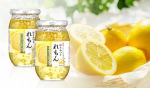 国産レモンの皮を使用。やさしい甘さとさわやかな酸味で食べやすい《美蜂園 はちみつ&れもん 420g×2個》ヨーグルトやパンなどのトッピングや、カクテルの風味付けにも