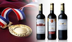 【送料込み】ダブル金賞受賞のフランス・ボルドー産赤ワイン。ワイナリーの情熱が感じられる葡萄本来のおいしさをじっくりと堪能《金賞受賞ボルドー3本セット》