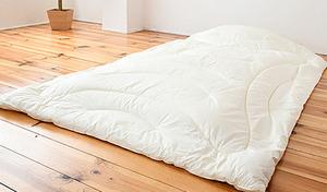消臭・抗菌加工を施した側生地が不快なニオイの発生を防ぎ、睡眠環境を清潔で爽快に。薄くて軽く、さらにあたたかさも実現《消臭ソムリエ(R)・シンサレートTM高機能中綿素材ウルトラUS200使用 掛布団》