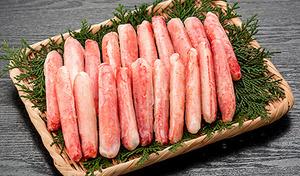【送料込み】漁獲後ボイルして凍結、レストランや割烹店でも使われている味自慢。解凍後そのまま召し上がるのはもちろん、鍋物や茶わん蒸しにも《ずわいがに棒肉 300g 20本》
