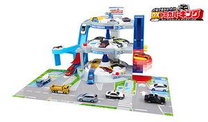 【在庫処分特価】3フロアが自動回転する大型パーキング。リアルな駐車遊びが楽しめる《トミカワールド ぐるぐるシュート!! DXトミカパーキング》