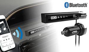 スマホ内の音楽をカーステレオから手軽に再生できるオーディオ用アクセサリ。液晶画面を搭載し、曲名表示も可能《BluetoothFMトランスミッター セパレート 曲名表示 AUX KD-195》