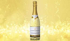 【送料込み】辛口スパークリングワインに22カラットの金箔をプラス。華やかでラグジュアリーな雰囲気を演出する豪華なビジュアル《金箔入りのゴージャスなスパークリングワイン》