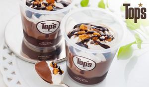 【送料込み】チョコレートケーキで親しまれている《トップス監修 チョコプリンパフェ》濃厚なチョコとナッツの組み合わせが絶妙な味わい