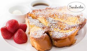 """【予約不要/土日祝日含む終日利用可】ルクア イーレB1階。""""NYの朝食の女王"""" サラベスのフレンチトーストやクラシックエッグベネディクトで、ふんわり甘い幸せなひととき《選べるサラベススイーツ+1ドリンク》"""