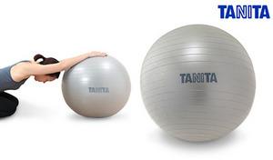 自宅やオフィスで手軽にバランス運動や体幹トレーニングが叶うバランスボール。空気入れポンプ付き《タニタサイズ ジムボール TS-952》