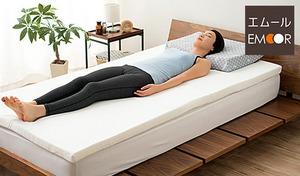 【送料込み/58%OFF/4色展開】敷き布団やベッドに重ねるだけで、体にかかる負担を軽減。オールシーズン快適な寝心地を叶える《日本製 高密度形状保持マットレス TOMORROW SLEEPER》