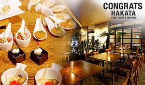 【NEW OPEN/アリエッタホテル1階/当日予約可】開放的な空間で優雅な大人ランチ。セミブッフェのオードブル、デザートとともに《濃厚ソースの「フンギクリームパスタ」や若鶏のグリルなどから選べるメイン/セミブッフェ》