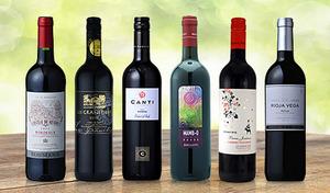 【送料込み】コスパにすぐれた赤6本セット。ヨーロッパを代表するワイン定番国の味わいを堪能《フランス・イタリア・スペイン赤ワイン 6本セット》