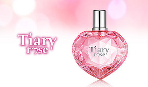 【84%OFF】ティアラ、それは女性の憧れの象徴。《ティアリー ローズ EDT 50mL》オーロラピンクでフレンチレディな気分。ローズの香りでいい女モードON