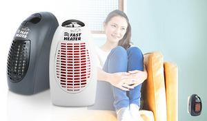 【69%OFF/2色展開】速暖。電源を入れるとすぐに温風が放出する軽量小型な携帯ヒーター。タイマー設定付きで洗面所やトイレなど狭いスペースにも最適なコードレスタイプ《スターライフ ファスト・ヒーター》