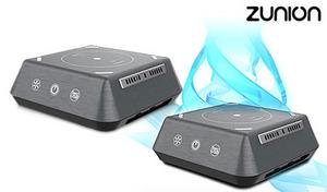 フィルタの2重使いでクリーンな空間へと導くポータブル空気清浄機。デバイスを接続できるUSBポート搭載《多機能空気清浄機 Zunion IA-350W》
