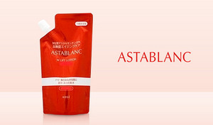 【医薬部外品/3種展開】超微細カプセルに含まれた「アスタキサンチン」をはじめとする美容成分をたっぷり配合。年齢に負けない魅力的な肌へと導く《アスタブラン Wリフト ローション(リフィル)130mL》