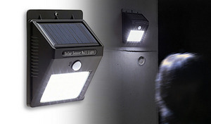 防犯対策や災害時への備え、足もとの視認性確保に大活躍。明暗センサー・人感センサー搭載の高輝度タイプライト《ソーラーパネル付小型 LEDライト LD-240》