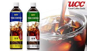 【2種展開/送料込み】香料無添加《UCC THE COFFEE PET 無糖 or 低糖 900mL×24本》UCCアロマダイレクト製法を採用。こだわりの味を、いつでも手軽に飲めるボトルコーヒーで。