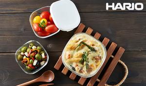 【50%OFF】作り置きや常備菜の保存にぴったり。オーブン調理もおまかせの耐熱ガラス製《HARIO耐熱ガラス保存容器 3個セット》冷蔵庫にしまいやすい角型。そのまま食卓にも出せるおしゃれなデザイン