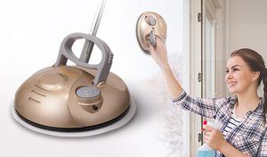 【62%OFF】使い分けしやすいハンディとスティック2WAYのコードレス式モップ。床や窓、浴室や玄関などさまざまな拭き掃除が楽な姿勢で手軽にできる《充電式回転モップ IMP-200》