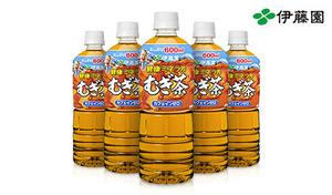 【送料込み】《伊藤園 健康ミネラルむぎ茶 600mL×24本》無香料・無着色、カフェインゼロの麦茶がお得に登場です