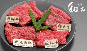 【50%OFF/しゃぶしゃぶ専門店】神戸牛・近江牛・飛騨牛・鹿児島牛4種のA5ランク肩ロースの旨味を贅沢に食べ比べ。世界に誇る日本の銘柄和牛でおもてなし《しゃぶしゃぶコース》情緒あふれる和モダンの空間