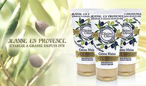 【3本セット】プロヴァンス産の上質なオリーブオイルを使用したハンドクリーム。カモミール・ビターオレンジなどの優しい香りに包まれる《ジャンヌ・アン・プロヴァンス ディヴァインオリーブ ハンドクリーム 75mL 3本セット》