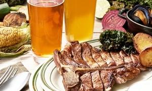 本日のお肉のグリルなど全8品+飲み放題120分|30枚利用可|FLOWS GRILL BAR|中野区 中野駅