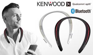 【2色展開】首にかけるだけで、スマートフォンの音楽を高音質で聴ける。耳を塞がないから疲れにくいと同時に周囲の音や声も聞こえる《ウェアラブルワイヤレススピーカー CAX-NS1BT》