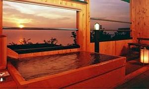 海を一望。天然温泉100%かけ流しの露天風呂があるお部屋で、贅沢なひとときを≪露天風呂付客室/舟盛&金目鯛姿煮&磯料理/5大特典付/1泊2食付≫ @たかみホテル