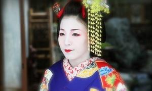 憧れの舞妓さんになれる撮影スタジオ。京都の旅の思い出作りにも最適≪舞妓に変身・撮影プラン(全データ+2L写真付き)≫平日限定 @舞妓体験処 京都 葵