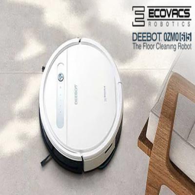 """""""吸引掃除""""と""""本格的な水拭き""""が同時に行える1台2役のロボット掃除機。掃除機だけでは取り切れない床についた足裏の細菌を99.26%除去する高性能モデル《ロボット掃除機 DEEBOT OZMO 615》"""