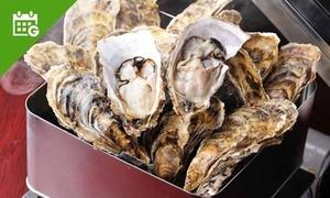 最大50%OFF 牡蠣がんがん焼きなど食べ放題×2名分/他、飲み放題付もあり|浜の牡蠣小屋 関内本店|横浜市中区 関内駅