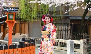 美しい京都の街並み。祇園でロケ撮影≪1名分/振り袖ロケフォトプラン(キャビネ2枚+データ15カット)≫ @京都きもの れじぇんど伏見店