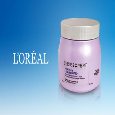 くせ毛をまったく感じさせないなめらかな髪へ《ロレアル セリエエクスパート リスアンリミテッド マスク 500mL》ケラチノオイルコンプレックス、オリーブオイル配合。まとまりのある髪へ導くヘアマスク