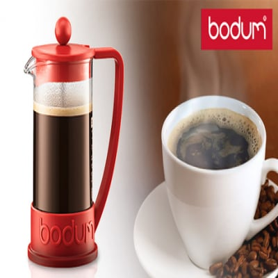 無駄な装飾を省いたシンプルなデザイン。豆とお湯だけで本格的な味のコーヒーが楽しめる《BRAZIL フレンチプレスコーヒーメーカー 350mL》