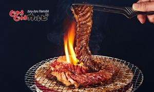 【 最大20%OFF 】美味しいお肉を思う存分 「じゅうじゅうカルビ」全国53店舗で使える5,000円分 or 10,000円分のお食事券|ディナー&ランチもOK|10/1~12/31まで利用可 ※お食事券を配送