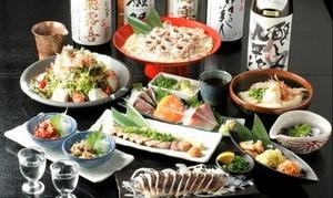 47%OFF 和食コース全10品+全国地酒50種など飲み放題180分/2名分 or 3名分|串天ぷらと日本酒バル かぐら(渋谷・田町・神田)3店舗で利用可