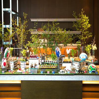 【前菜・サラダをビュッフェ/大会参加国にちなんだ料理】日本で開催の世界的なラグビー大会を盛り上げ、応援する気持ちを込めて《「ラグビーワールドランチ」+スパークリングワイン》【月~金(祝日除く)限定】