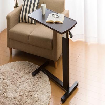 【送料込み】自由に高さ調節ができ、さまざまなシーンで活用できる昇降式テーブル。デスクワークやキッチンの補助台、ベッドサイドテーブルとしても使える便利な1台《ガス圧昇降テーブル》