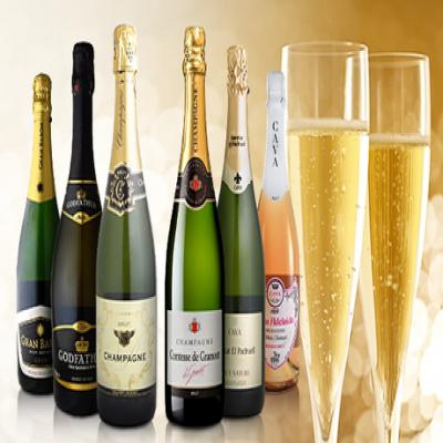 【送料込み】贅沢な気分へ導くシャンパーニュ2本入り。さまざまな料理と好相性の厳選したスパークリングワインをセレクト《シャンパン入りスパークリングワイン6本セット》