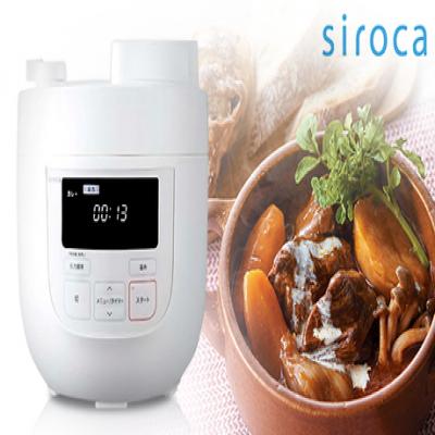 【50%OFF】大容量の4リットルタイプ。圧力調理・無水調理・蒸し調理・炊飯・温め直しに対応。材料を入れてボタンを押すだけの簡単操作で、本格的な味わい《siroca 電気圧力鍋》